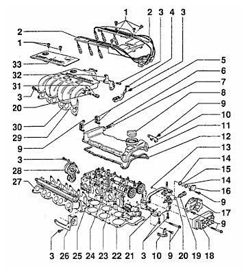 volkswagen vr6 head gasket replacement vw vr6 diagram