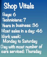Preferred Automotive Shop Vitals