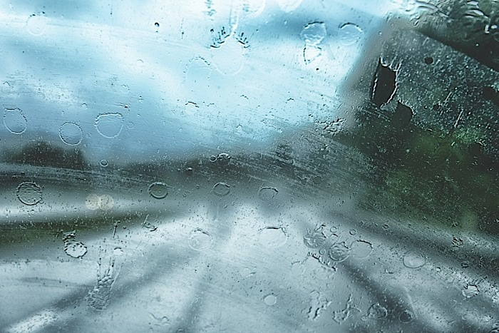 Streaky windshield