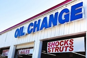 Oil and lube shop