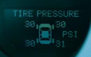 TPMS dash display