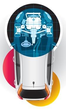 Steering diagnostics illustration