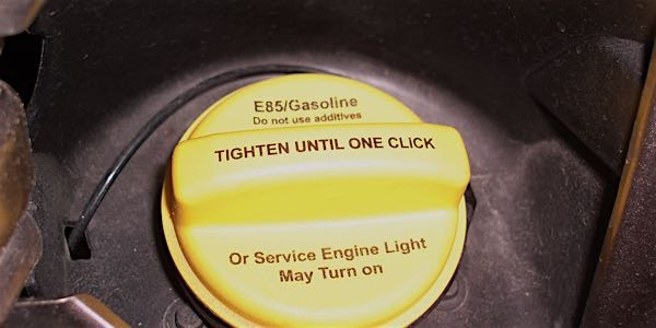 flex fuel cap gasoline yellow