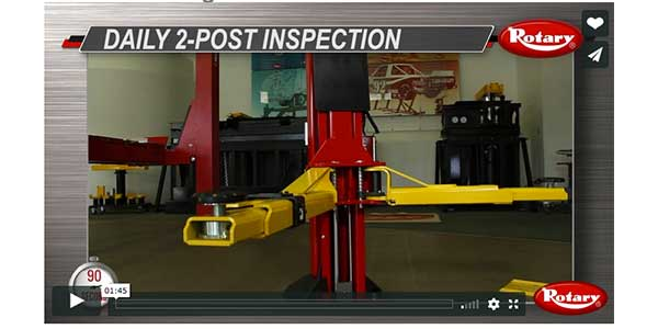 Learn 10 Steps For Daily Two-Post Lift Inspection In Short