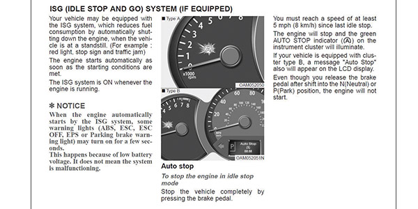 Stop And Go Auto >> Hyundai Idle Stop And Go Isg Start Stop Systems Are Here